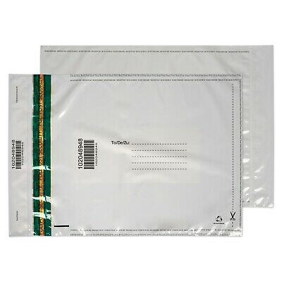 Plastic Mailing Bag Poly Postal Packaging C3+ A3+ Peel & Seal White