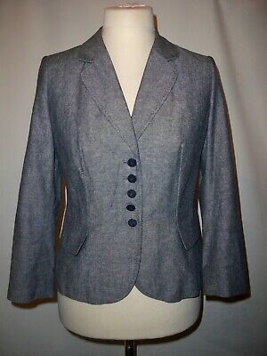 Marks And Spencer Linen Blend   Trouser  Suit   Size Uk 14 Jacket Uk 12 Trousers