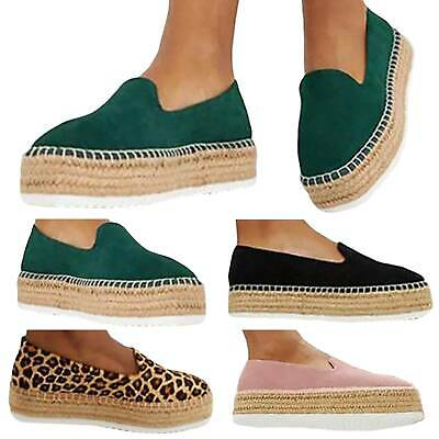 Womens Casual Platform Flats Slip On Moccasins Lazy Loafers Comfy Pumps Shoes