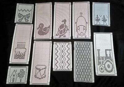 Knitting Machine Pre-Punched Pattern Cards X 11