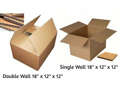 STRONG MOVING BOXES Single & Double Wall Cardboard Boxes Removal Packing Ship