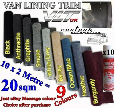 CAMPER VAN CARPET LINING 4 WAY STRETCH VW T 6 5 1 TRANSIT 20 sqm CAR MOTOR HOME