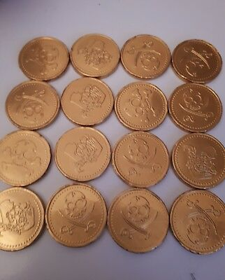 50 Milk chocolate pirate coins /retro sweets wedding favours /party bags
