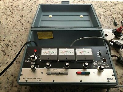 Vintage Rca Tube Tester Model Wt-333B Criii With Adapters And Instuction Manuals