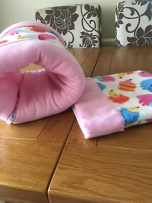 FLEECE SNUGGLE POUCH & TUNNEL Guinea Pig / African Pygmy Hedgehog Bed