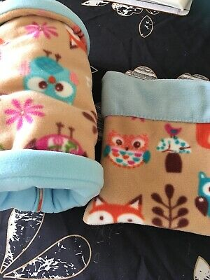 FLEECE SNUGGLE POUCH & TUNNEL Guinea Pig / African Pygmy Hedgehog Mat Included