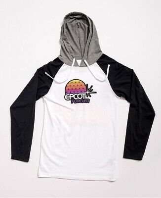 2019 Disney PARKS EPCOT FOREVER Figment Adult Hoodie Passholder XL