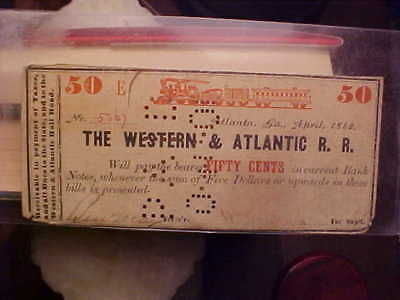 Historical Civil War Train Tickets Associated With The Andrew's Raid