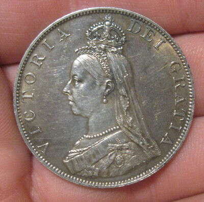 Great Britain - 1887 Large Silver Double Florin - Nice