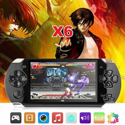 "UK Portable 4.3"" Handheld Video Game Consoles Player X6 8G 64Bit 10000 Games"