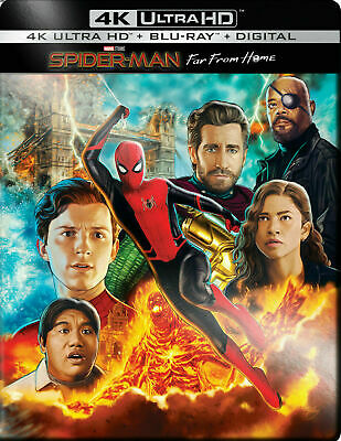 Spider-Man Far From Home - Limited Edition Steelbook [4K UHD - Blu-ray] New!!