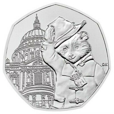 PADDINGTON BEAR AT ST PAULS  50p PENCE COIN 2019 UNCIRCULATED FROM SEALED BAG