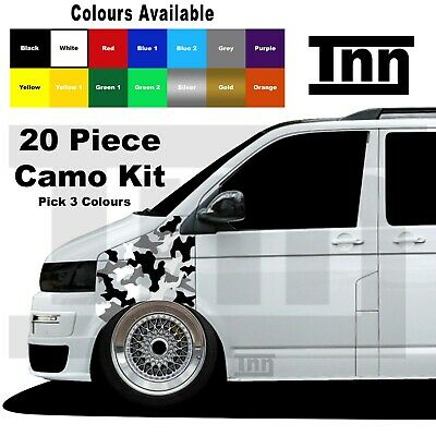 Camo Camouflage Kit Stickers For VW Transporter Caddy T5 T6 T4 Decal Camper