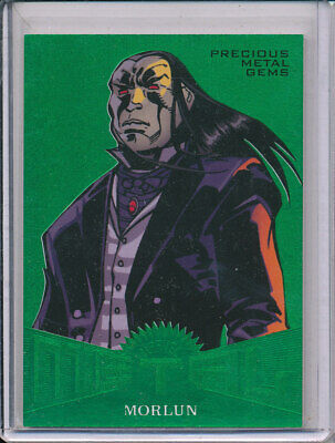 2017 Fleer Ultra Spider-man Precious Metal Gems Emerald Morlun 4/10