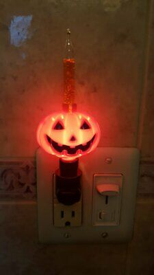 Pumpkin Bubble Light Night Light Halloween Jack O Lantern See VIDEO!