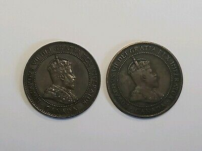 1902 and 1903 Canada Canadian Large 1 Cent Coins - King Edward VII - Lot of 2