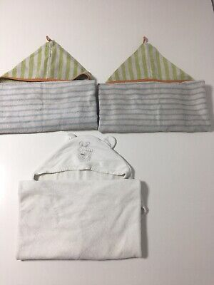 3x Baby Hooded Towels (B45)