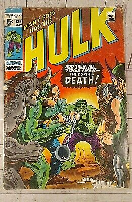 "THE INCREDIBLE HULK #139 MARVEL COMICS 1971 ""Many Foes has the Hulk!"""