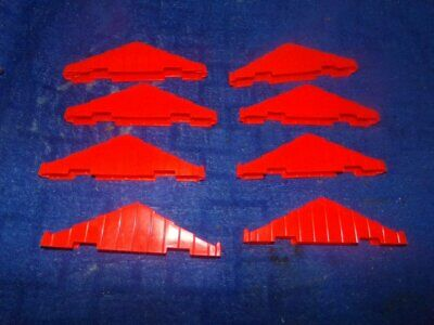 """Lincoln Log 9"""" Roof Trusses Supports Lot Of 8 Pieces 3 Notch VINTAGE Orange"""