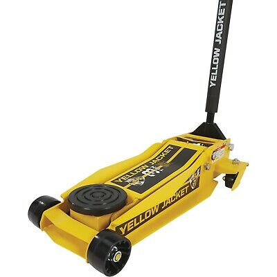 Yellow Jacket Low-Profile Super-Duty Jack — 3-Ton Lift Capacity, 4in.–23in. Lift