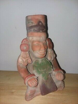 Ancient Mayan Aztect inca Mexican Clay Figurine