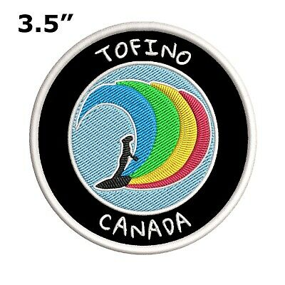 """Tofino, Canada Surfer 3.5"""" Embroidered Iron/Sew-on Patch Souvenir Travel"""