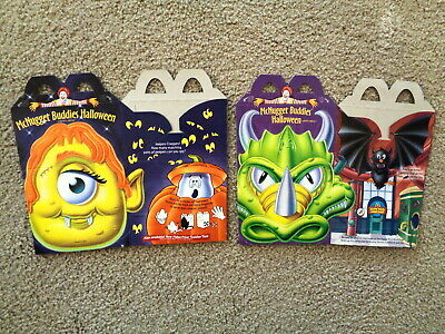 McDonald's 1996 McNugget Buddies Halloween Happy Meal Boxes