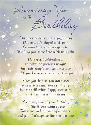 ON YOUR BIRTHDAY Plastic/Waterproof/Grave/Memorial/Remembrance/Tribute Card