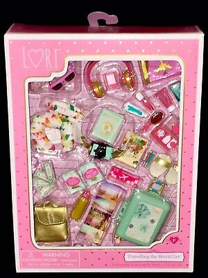 """NIB Our Generation RETRO JUST SPOTTED American Girl 18"""" Doll Leopard PURSE GLASS"""