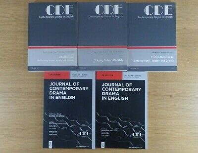 CDE Contemporary Drama in English Adaptations, Intercultural, etc + Journals