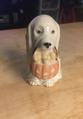 Lenox Ghostly Pup Figurine.~ Halloween Trick Or Treat Pup ~ 829712 ~ Used No Box
