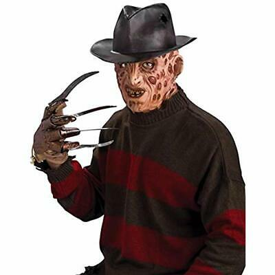Costumes A Nightmare On Elm Street Molded Freddy Krueger Fedora, Brown, One Size