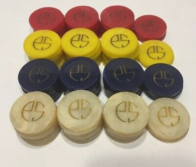 Vintage Casino Bakelite Catalin Poker Chips With Monogram