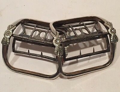 Beautiful, Antique LARGE mid-late 18th Century Shoe Buckles - Silver and Steel