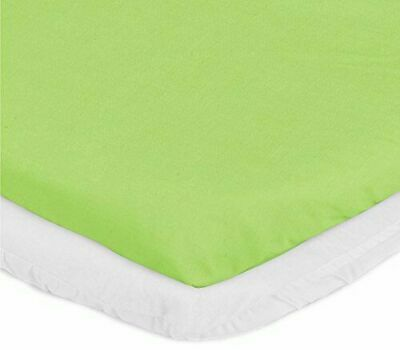 "aBaby Cradle Mattress Protector and Sheet Combo, Green Apple, 15"" x 33"""