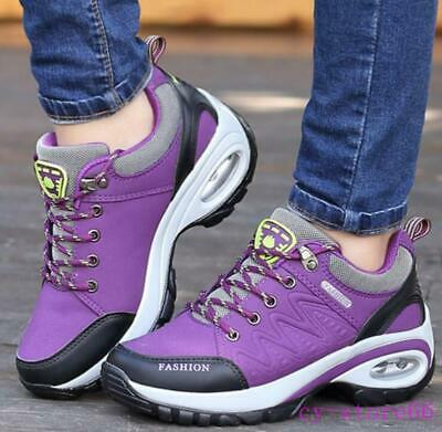 Womens Mid Top Shoes Outdoors Hiking Boots Sneaker Running Girls Air Cushion NEW