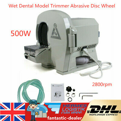 500W Dental Equip Wet Model Trimmer Abrasive Disc Wheel Gypsum Arch 2800rpm 500W