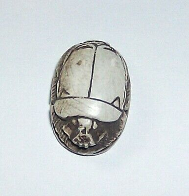 .ancient steatite scarab of the new Egyptian kingdom