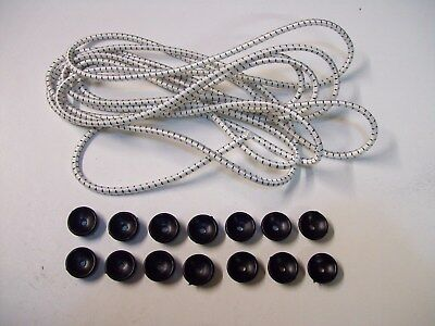6 mts of 5 mm bungee cord for trailer Cover  & 14 Tie Down plastic  Buttons
