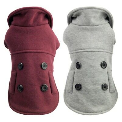 Small Pet Dog Winter Warm Clothes Hoodie Coat Puppy Cat Jacket Apparel Costume
