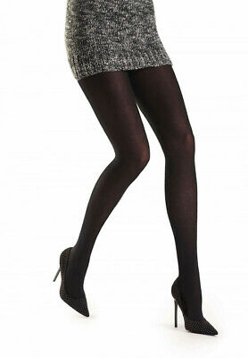Oroblu Tights Lindsey, cotton , plain knitted, 80 denier opaque effect