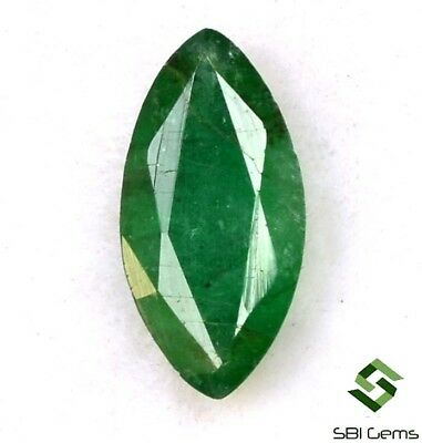 0.98 Cts Certified Natural Emerald Marquise Cut 10x5 mm Faceted Loose Gemstone