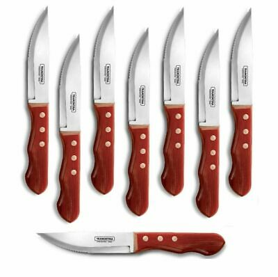 Jumbo Steak Knife Set Barbecue BBQ Knives Tramontina Polywood RED Handle