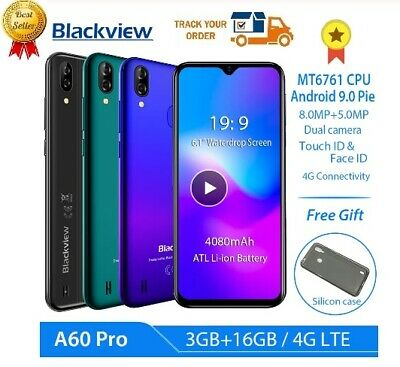 "2019 Blackview A60 / A60 PRO 4G 3GB+16GB Android9 Smartphone 6.1"" 4080mAh Unlock"