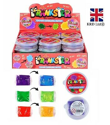 COLOUR CHANGING PUTTY TUBS Heat Sensitive Slime Colourful Goo Gift HBN14305 UK