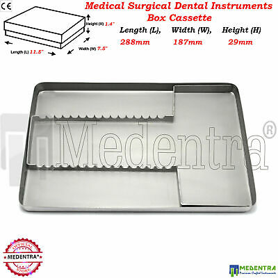 Medical Dental Surgical Instruments Rack Stainless Steel Case Box Tray MEDENTRA®