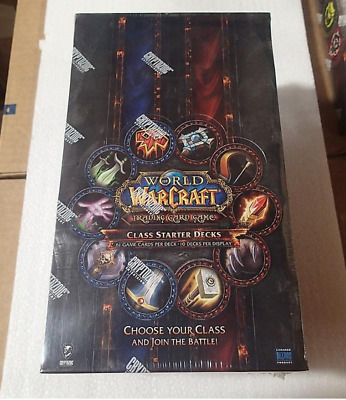 World of Warcraft - Class Starter Decks Display -  Booster Box Deck WoW TCG