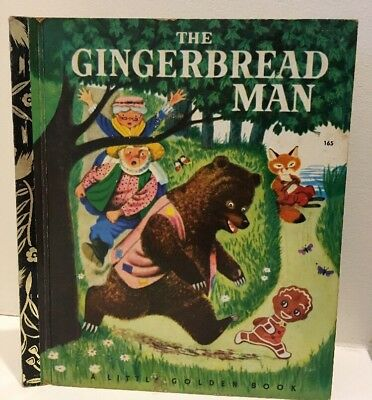1972 The Gingerbread Man by Nancy Notle Little Golden Book LGB #165 HC Free post