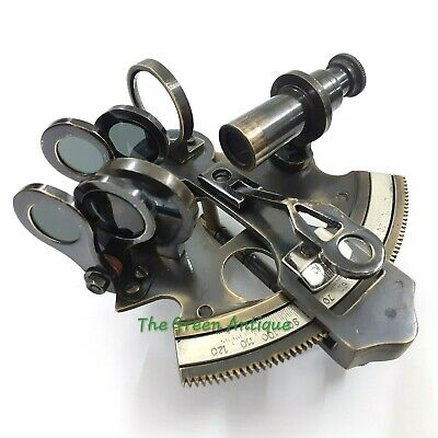 Antique Brass Sextant Mini Nautical Maritime Collectible Gift