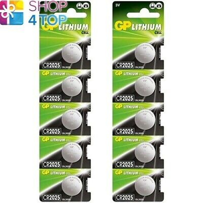 10 Gp Lithium Cell Cr2025 Batteries Dl2025 3V Coin Cell Button Exp 2029 New
